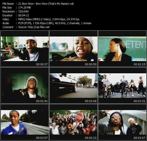 video Bow Wow (That's My Name) screen