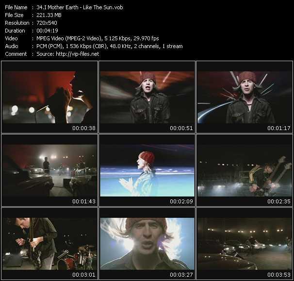 I Mother Earth video screenshot