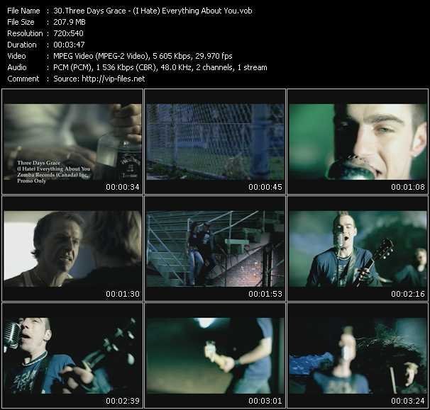 Three Days Grace video screenshot