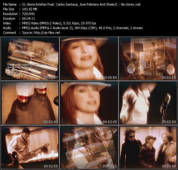 Gloria Estefan Feat. Carlos Santana, Jose Feliciano And Sheila E. video screenshot