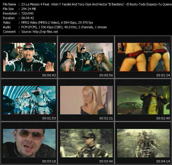 La Mission 4 Feat. Wisin And Yandel, Tony Dize And Hector El Bambino video screenshot