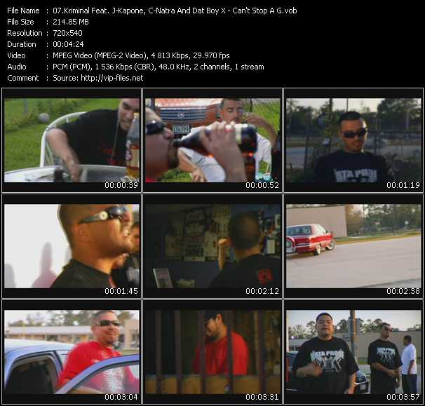 Kriminal Feat. J-Kapone, C-Natra And Dat Boy X video screenshot