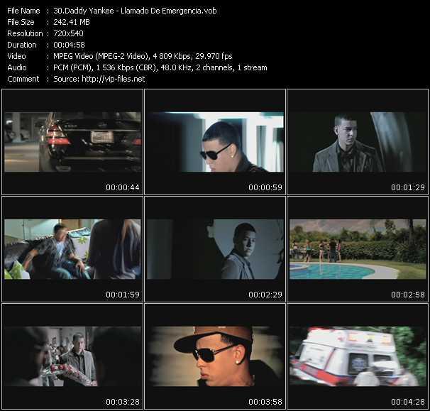 Daddy Yankee video screenshot
