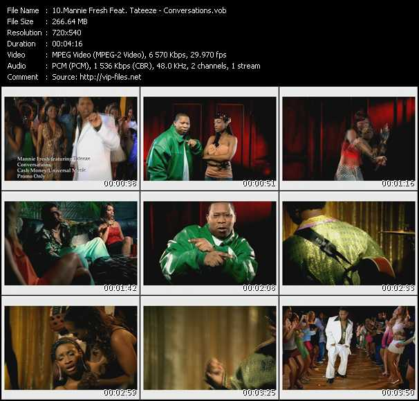 Mannie Fresh Feat. Tateeze video screenshot