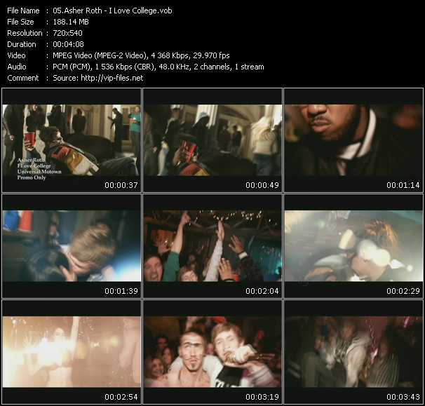 Asher Roth video screenshot
