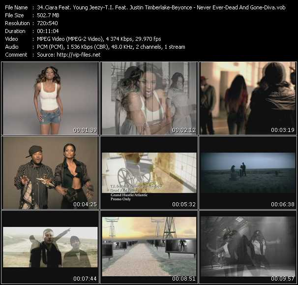 Ciara Feat. Young Jeezy - T.I. Feat. Justin Timberlake - Beyonce video screenshot