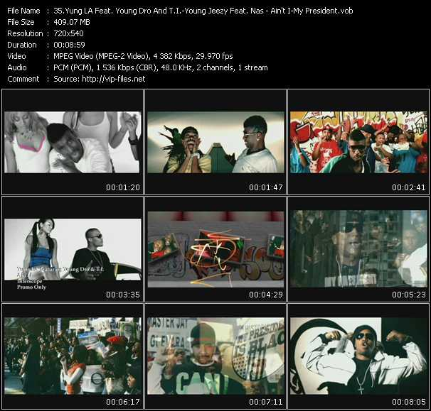Yung LA Feat. Young Dro And T.I. - Young Jeezy Feat. Nas video screenshot