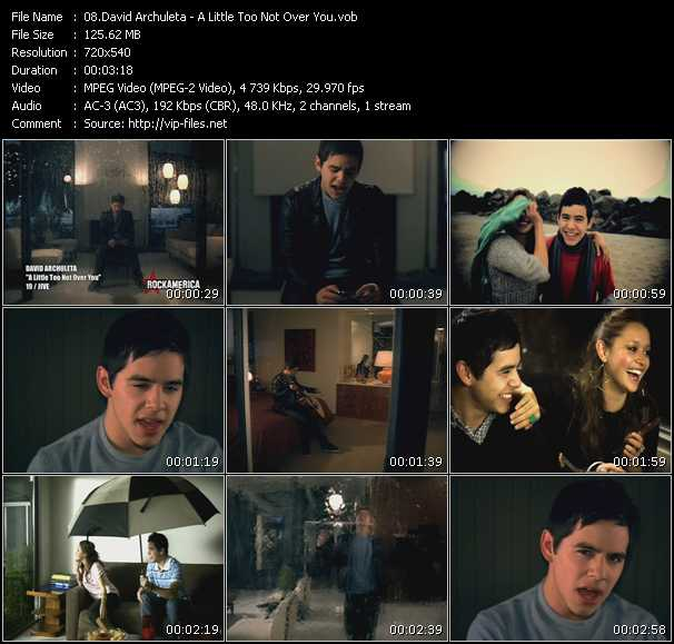 David Archuleta video screenshot