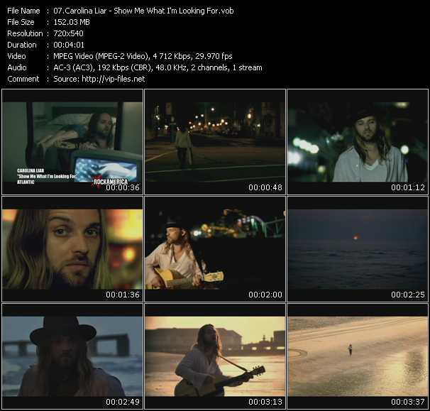 Carolina Liar video screenshot