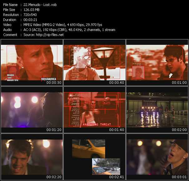 Menudo video screenshot