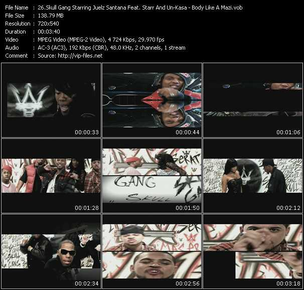 Skull Gang Starring Juelz Santana Feat. Starr And Un Kasa video screenshot