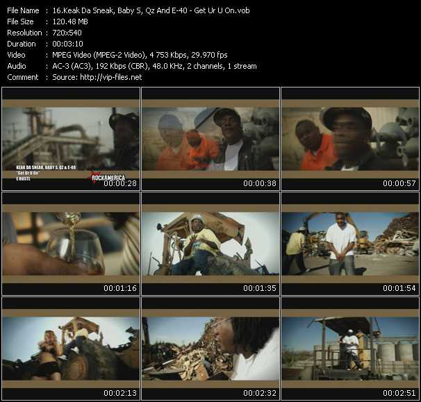 Keak Da Sneak, Baby S, Qz And E-40 video screenshot