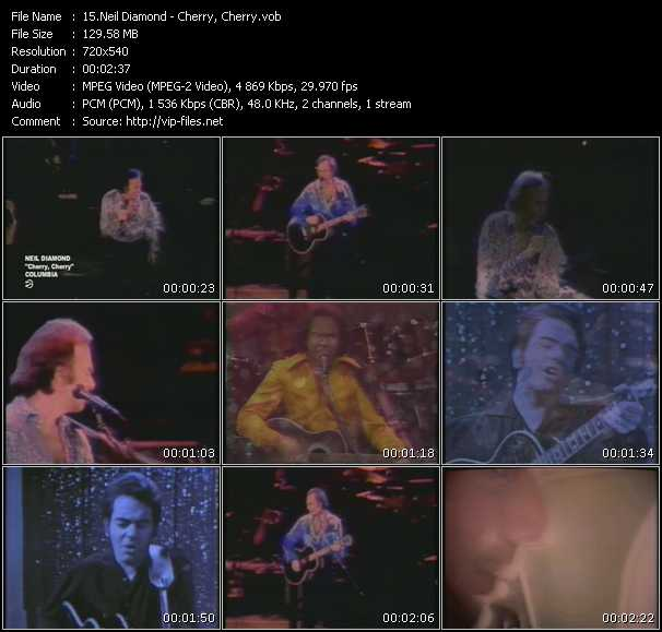 Neil Diamond video screenshot