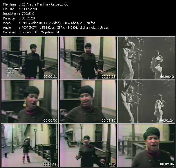Aretha Franklin video screenshot