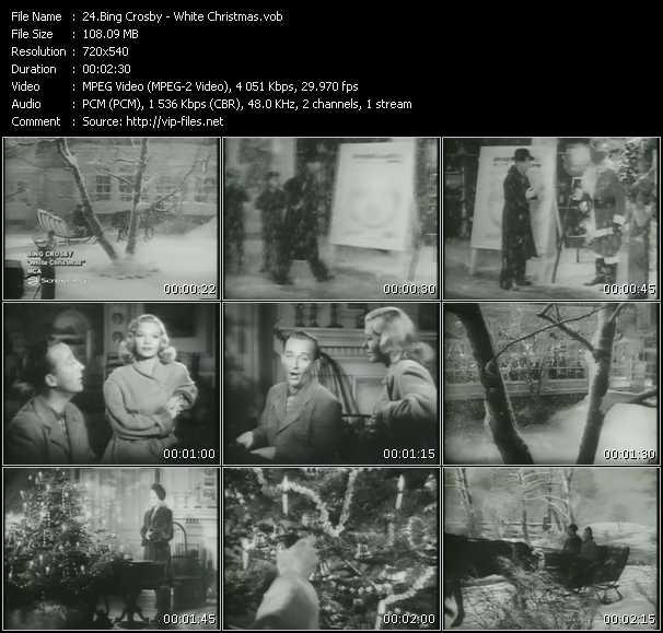 Bing Crosby video screenshot