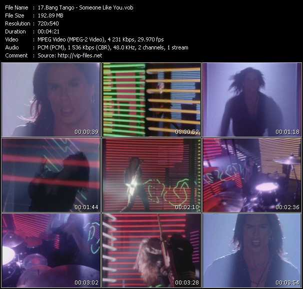 Bang Tango video screenshot