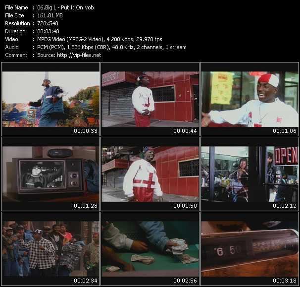 Big L video screenshot