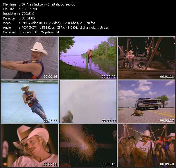 Alan Jackson video screenshot
