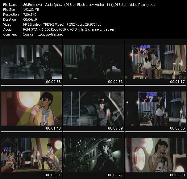 video Cada Que... (Dj Erax Electro-Luv Anthem Mix) (Dj Saturn Video Remix) screen