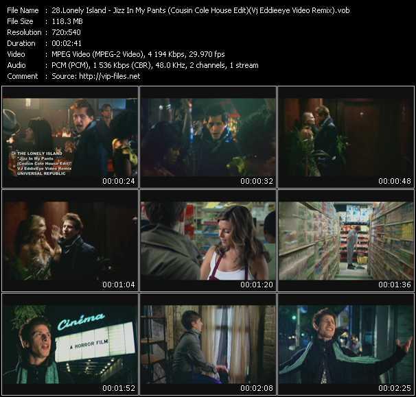 video Jizz In My Pants (Cousin Cole House Edit) (Vj Eddieeye Video Remix) screen