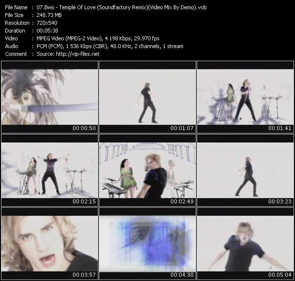 video Temple Of Love (Soundfactory Remix) (Video Mix By Demo) screen