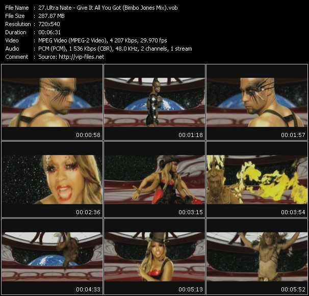 video Give It All You Got (Bimbo Jones Mix) screen