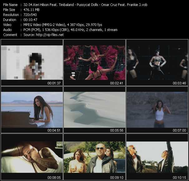 Keri Hilson Feat. Timbaland - Pussycat Dolls - Omar Cruz Feat. Frankie J video screenshot