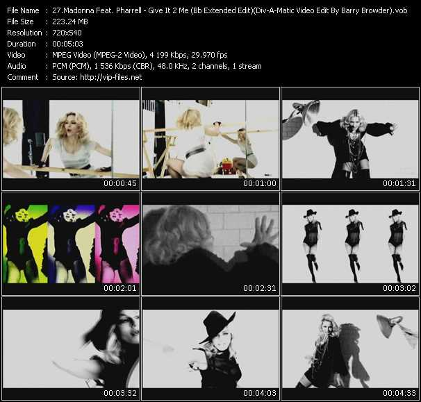 video Give It 2 Me (Bb Extended Edit) (Div-A-Matic Video Edit By Barry Browder) screen