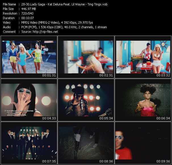 Lady Gaga - Kat DeLuna Feat. Lil' Wayne - Ting Tings video screenshot