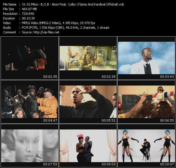 Mims - B.O.B. - Akon Feat. Colby O'Donis And Kardinal Offishall video screenshot