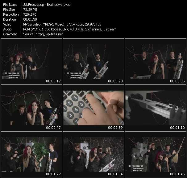 Freezepop video screenshot
