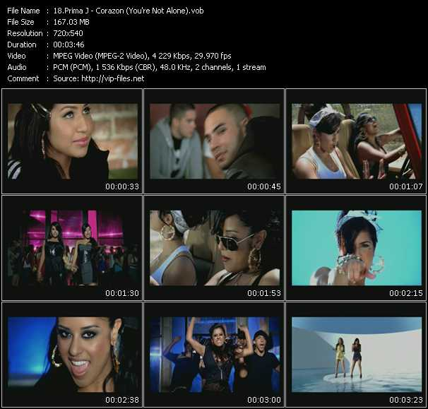 Prima J video screenshot