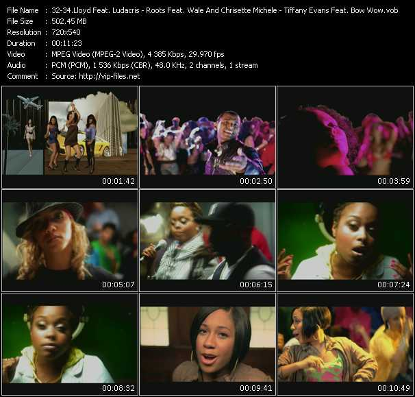 Lloyd Feat. Ludacris - Roots Feat. Wale And Chrisette Michele - Tiffany Evans Feat. Bow Wow video screenshot