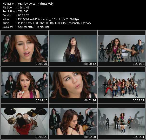 Miley Cyrus video screenshot