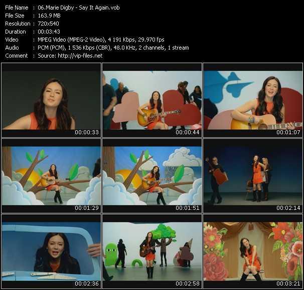 Marie Digby video screenshot