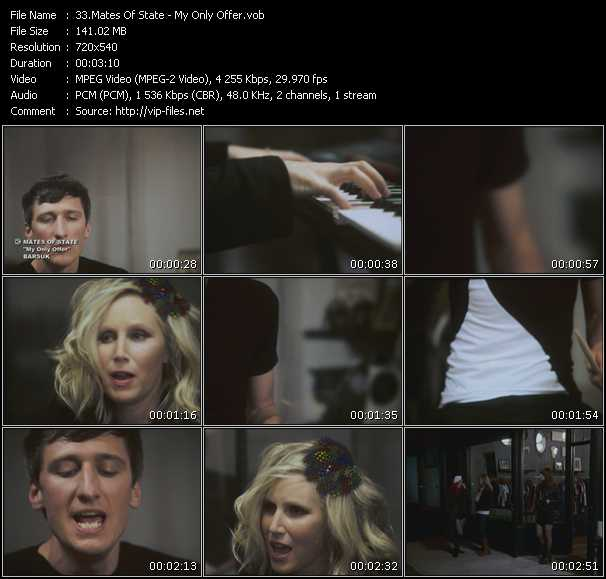 Mates Of State video screenshot