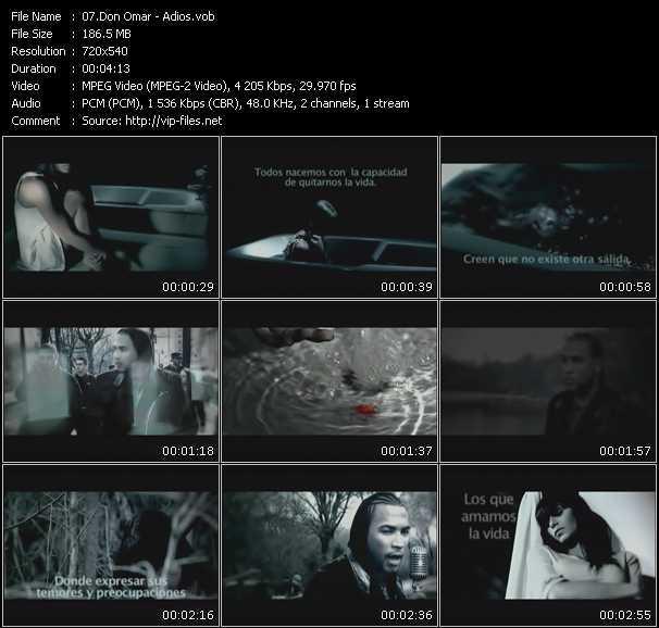 video Adios screen