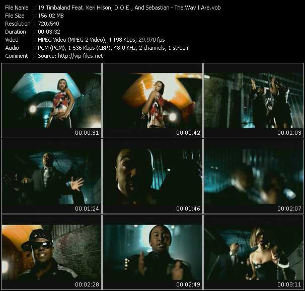 Timbaland Feat. Keri Hilson, D.O.E. And Sebastian video screenshot