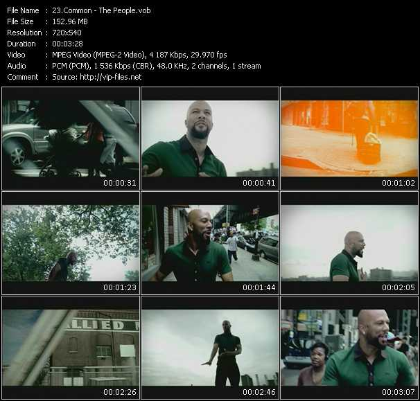 Common video screenshot