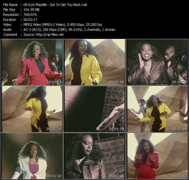 Kym Mazelle video screenshot