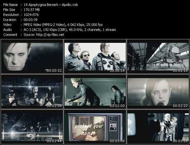 Apoptygma Berzerk video screenshot