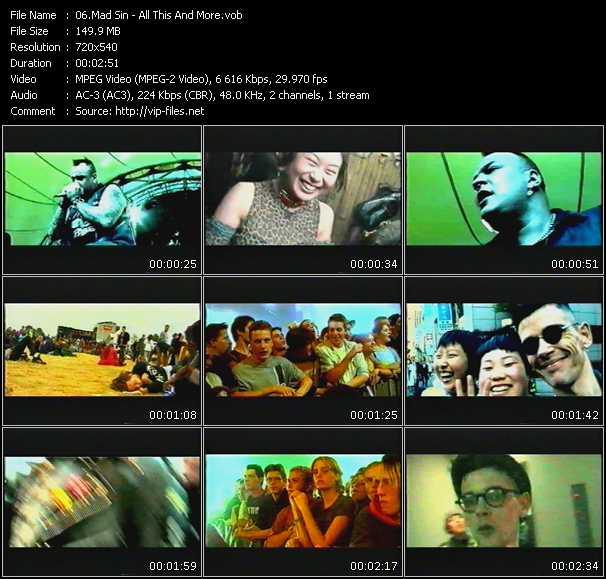 Mad Sin video screenshot