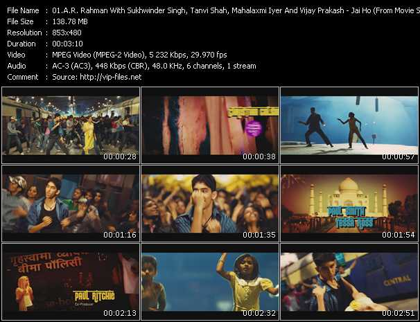 A.R. Rahman With Sukhwinder Singh, Tanvi Shah, Mahalaxmi Iyer And Vijay Prakash video screenshot