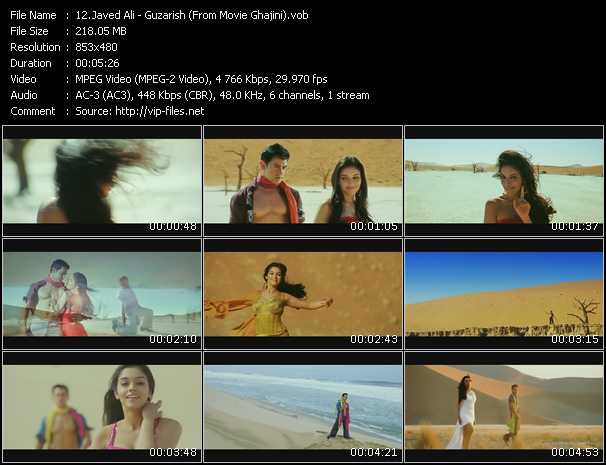 video Guzarish (From Movie Ghajini) screen