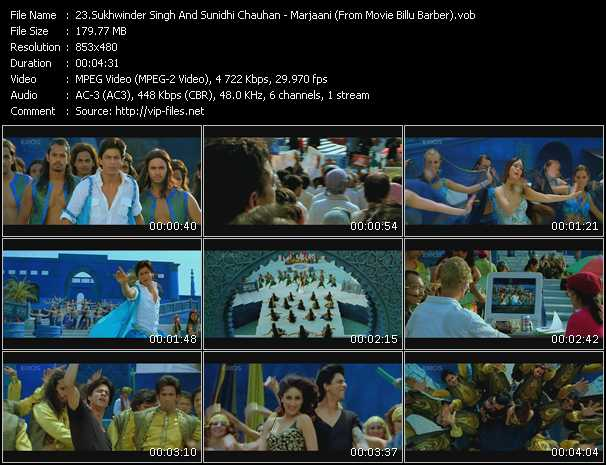 Sukhwinder Singh And Sunidhi Chauhan video screenshot