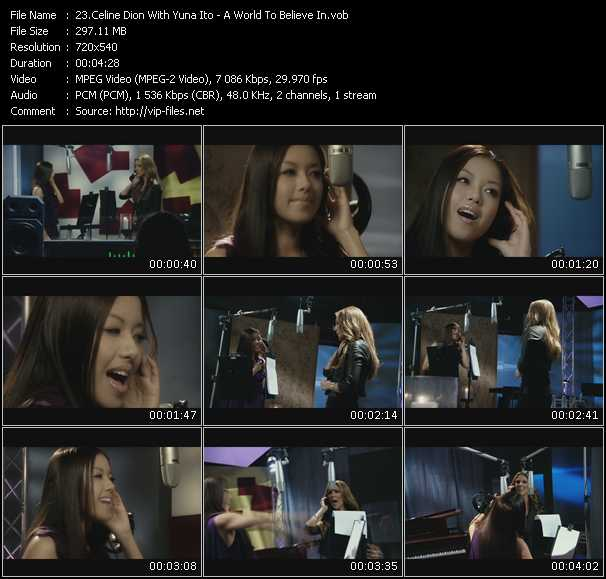 Celine Dion With Yuna Ito video screenshot