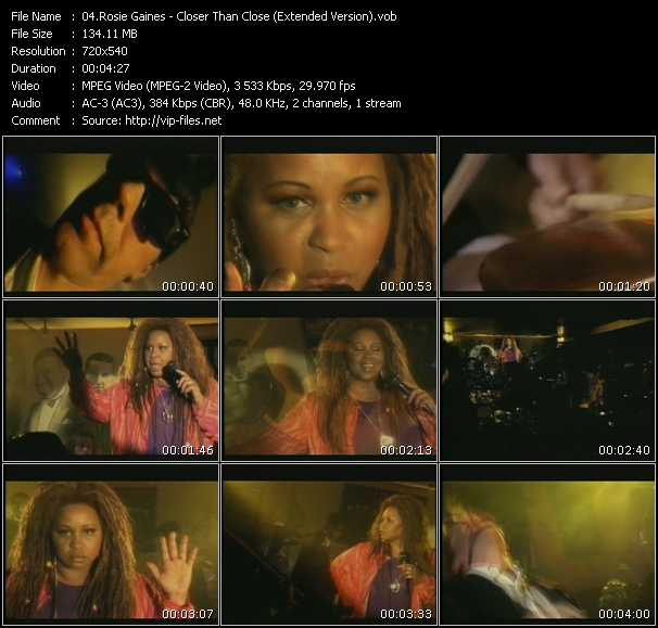 Rosie Gaines video screenshot