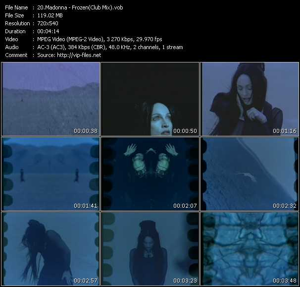 video Frozen (Club Mix) screen