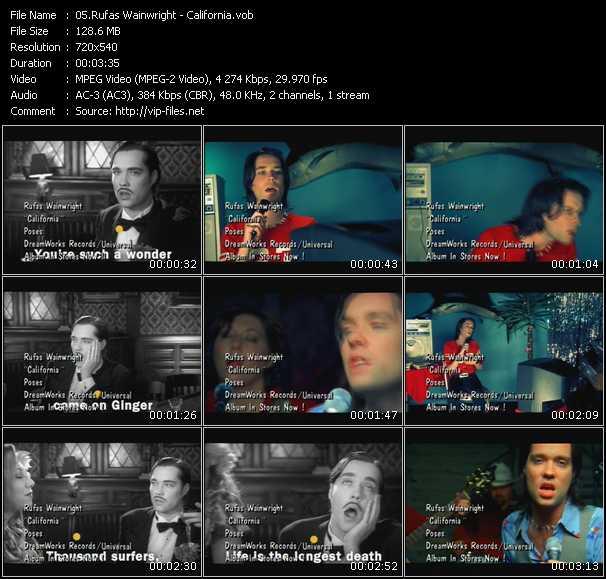 Rufas Wainwright video screenshot