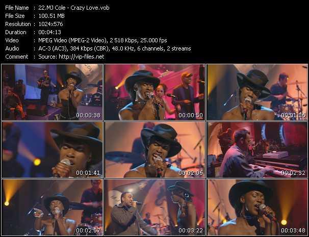 Mj Cole video screenshot